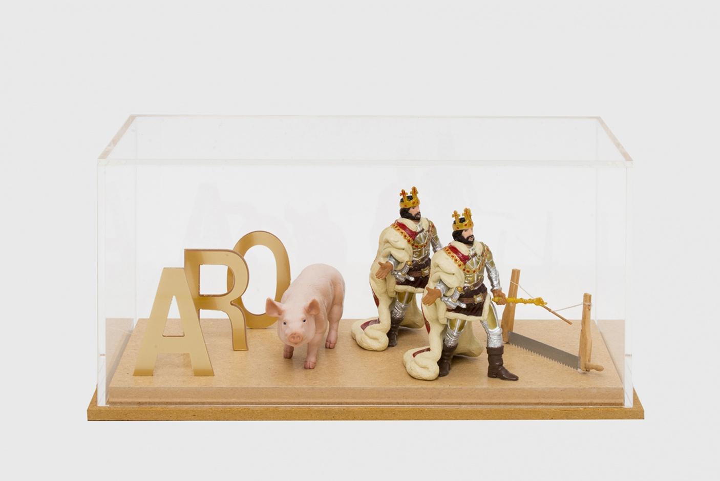 Rébus Romain Denis : A-R-0-porc-deux-rois-scie